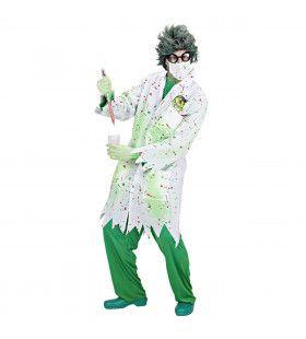 Dr. Toxic Jas Gekke Professor Volwassen Kostuum