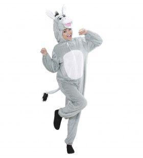 Full-Body Pluche Ezel Volwassen Kostuum
