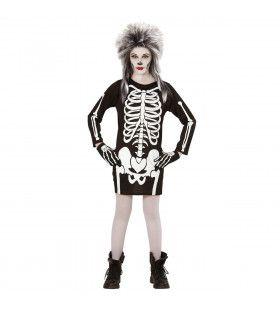 Korte Jurk Skelet Kind Meisje