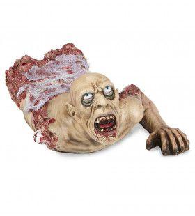 Horror Attribuut Torse Kruipende Zombie Met Gaas, 72cm