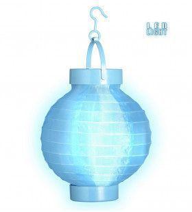 Feestelijke Lampion Met Licht 15cm, Blauw
