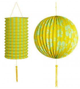 Feestelijke Decoratie Set Geel / Groen