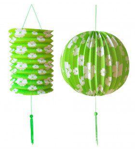 Feestelijke Decoratie Set Groen / Wit