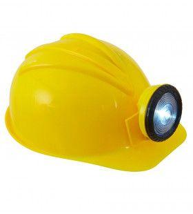Mijnwerker Bouwhelm Met Licht