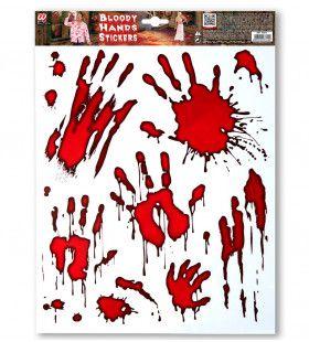 Stickers Bloederige Handen Crime Scene