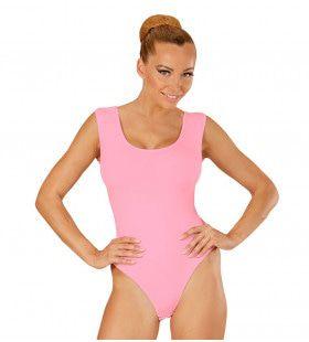 Unicolor Mouwloze Body Volwassen, Soft Roze