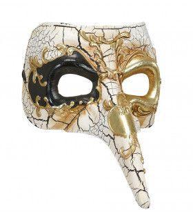 Klassiek Luxe Venetiemasker, Lange Neus