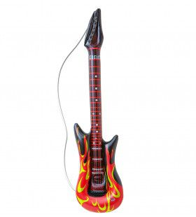 Rocker Opblaasbare Gitaar, Met Vlammen, 105cm