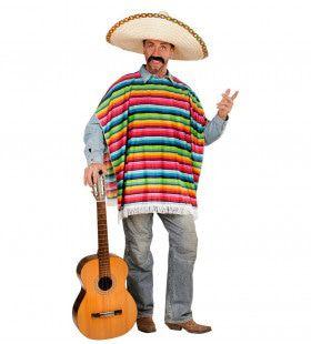 Hola Hombre Mexicaanse Poncho Volwassen Kostuum