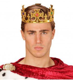 Basic Kroon Koning Met Stenen, Goud