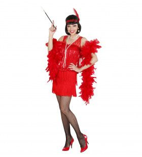 20s Charleston Flapper Rood Vrouw Kostuum