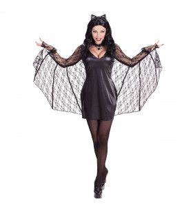 Vleermuis Vrouw Sexy Cave Kostuum