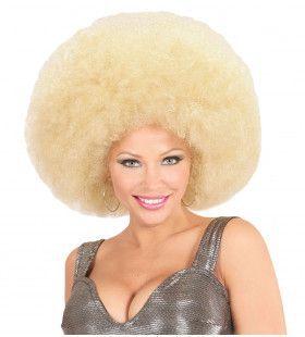 Soul Diva Pruik, Afro Extra Groot Blond