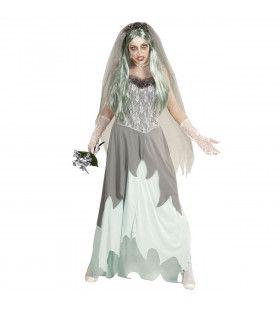Cockney Zombie Bruid Vrouw Kostuum