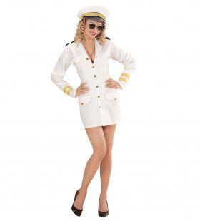 Ms Waves Vrouwelijke Marine Kapitein Kostuum