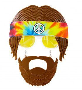 Jaren 60 Bril, Hippie Met Baard
