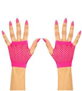 Physical Vingerloze Handschoenen Kort Neon Roze