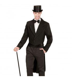 Showman Zwarte Frackjas Kostuum