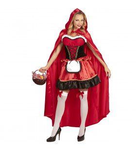 Glimmend Roodkapje Vrouw Kostuum