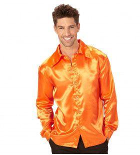 Cool Dancer Discoshirt 70s, Oranje Man