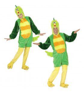Fantasie Onesie Pluche Groene Vogel Kostuum