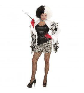 Cruella Boosaardige Minnares Vrouw Kostuum