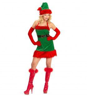 Fijne Elf Santas Little Helper Vrouw Kostuum