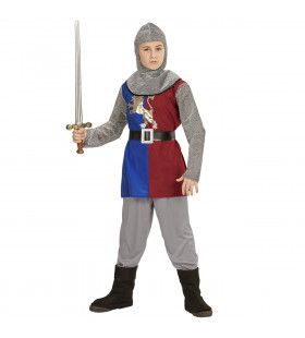 Middeleeuwse Ridder Jonas Jongen Kostuum