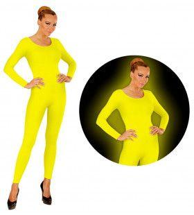 Neon Geel Bodysuit Glow Vrouw Kostuum