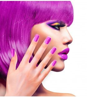 Nagels Airbrush Neon Paars 80s Lady