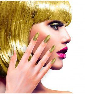 Nagels Pearly Iriserend Glitter Goud