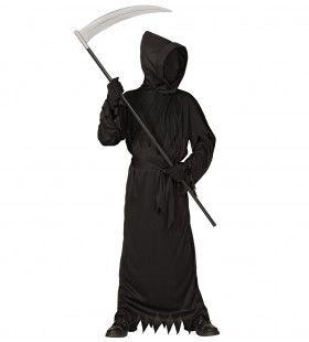 Grafschender Bart Zwart Jongen Kostuum