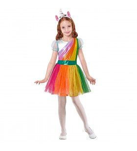 Eenhoorn Regenboog Meisje Kostuum