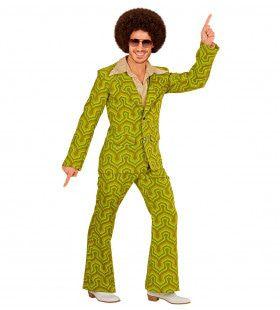 Groovy George 70s Heren Kostuum, Behang Man