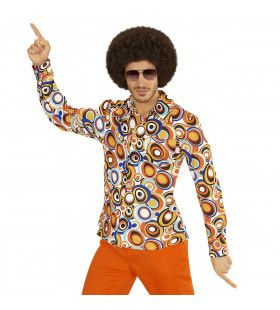 Groovy Garry 70s Heren Shirt, Luchtbellen Man