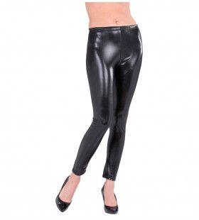 Glossy Zwarte Legging