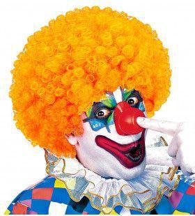 Afro Clownpruik Krullen, Oranje