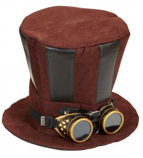 Hoge Hoed Steampunk Met Stofbril Mechanica