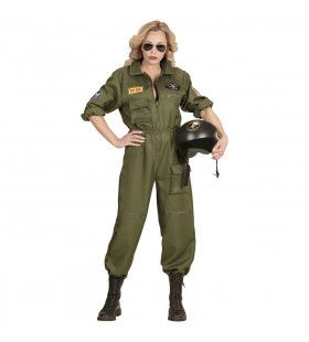 Gevechtspilote Cruising Altitude Vrouw Kostuum