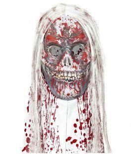 Masker Zombie Met Kap En Haar Terror