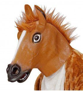 Cartoony Masker, Bruin Paard Met Haar