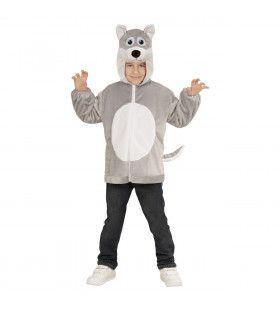 Hoodie, 98cm, Huilende Wolf