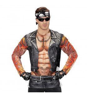 T-Shirt Lange Mouwen Rocker / Biker Man