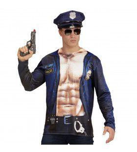 T-Shirt Lange Mouwen Potige Politie Man