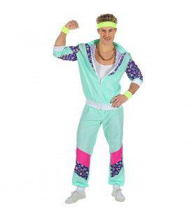 Afschuwelijk Mintgroen Trainingspak Man Kostuum