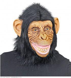 Masker Chimpansee Aap Met Pluche Haren