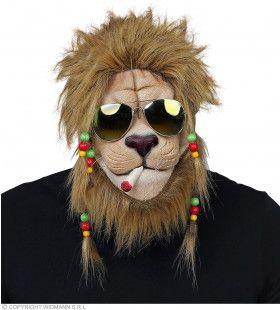 Rasta Leeuw Jamaica Masker Met Zonnebril