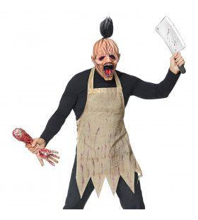 Bloederige Slager Schort En Masker Kostuum