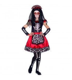 Maria Dia De Los Muertos Kerkhof Meisje Kostuum