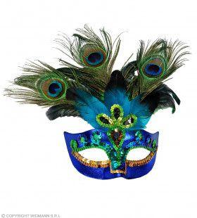 Luxe Uitgevoerd Pauwen Masker